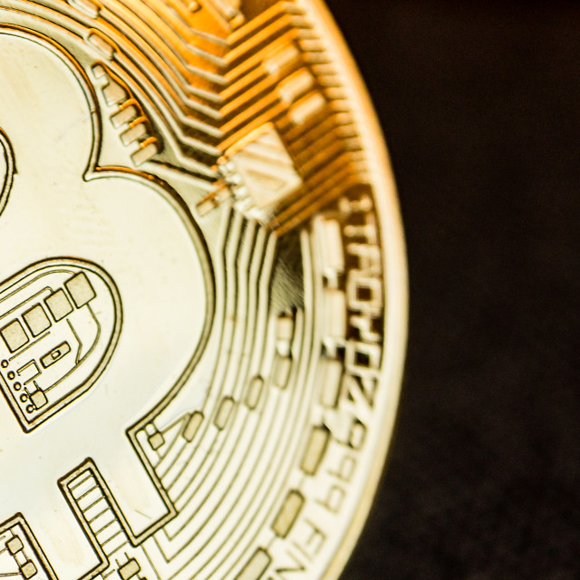 """golden bitcoin coin"" stock image"