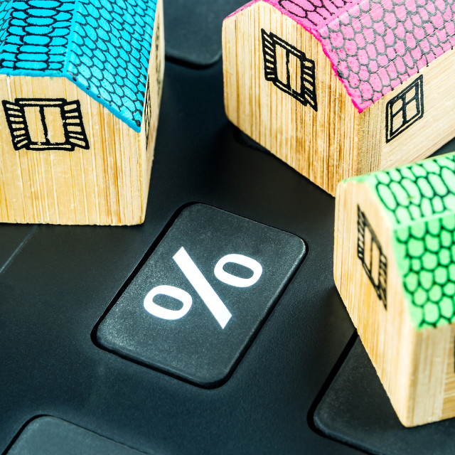 """calculating mortgage interest rate"" stock image"