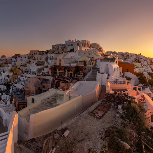 """""""Santorini Panorama"""" stock image"""