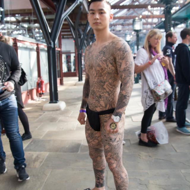 """Korean tattoo suit"" stock image"