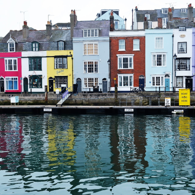 """""""The side of the quay"""" stock image"""