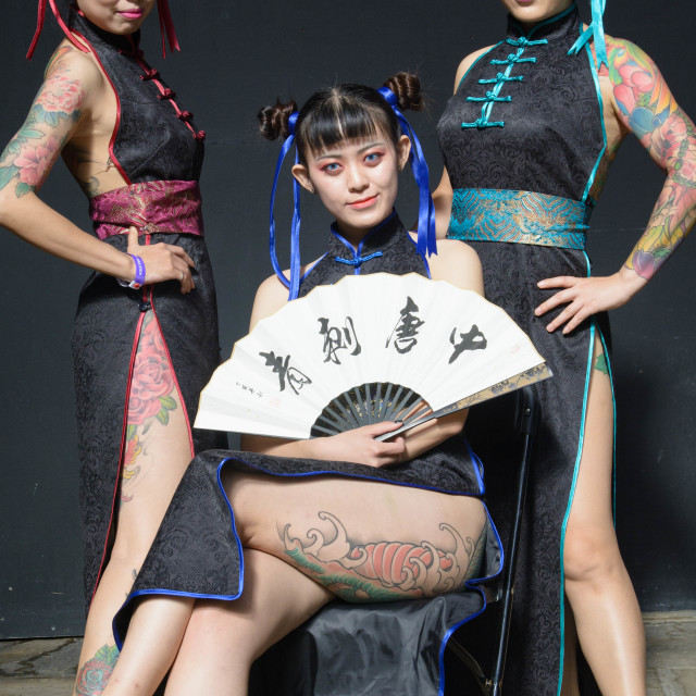 """""""London tattoo convention 2017"""" stock image"""
