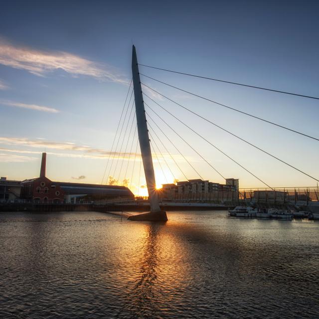"""""""Swansea Millennium Bridge"""" stock image"""