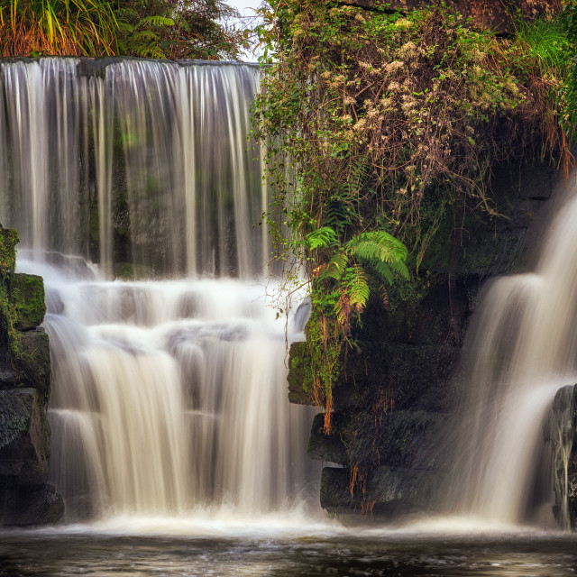 """Penllergare waterfall"" stock image"