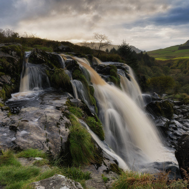 """The Loup of Fintry waterfall"" stock image"