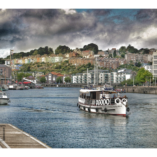 """Bristol Docks"" stock image"