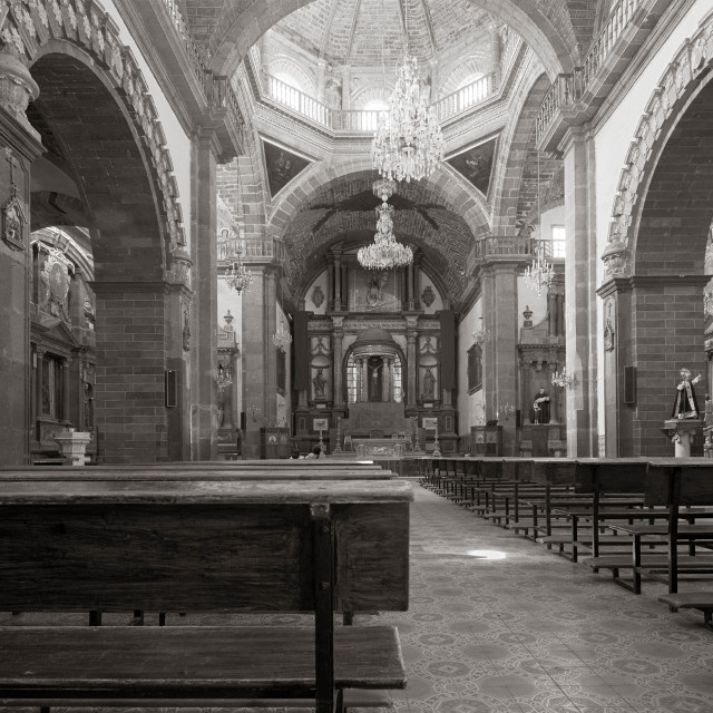 """Church Interior, San Miguel de Allende, Mexico"" stock image"