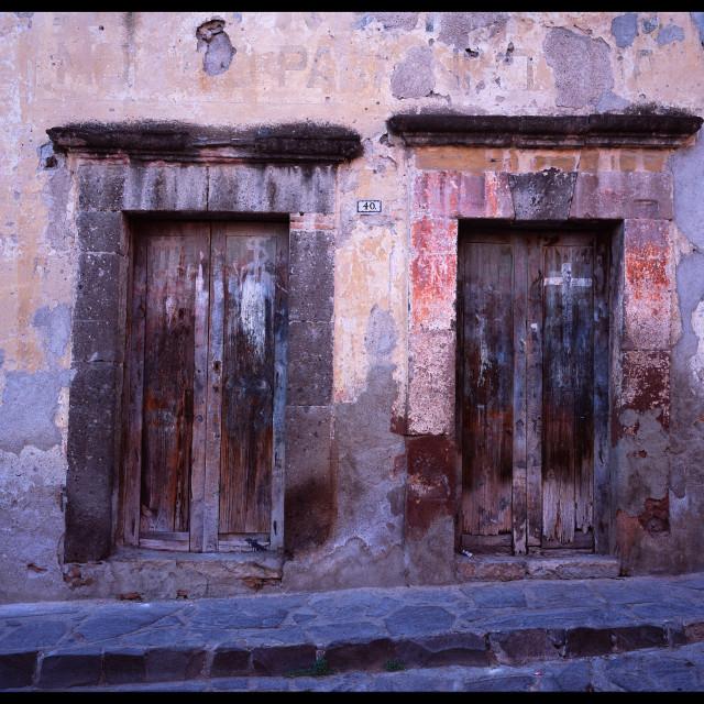 """""""Doors, San Miguel de Allende, MX"""" stock image"""