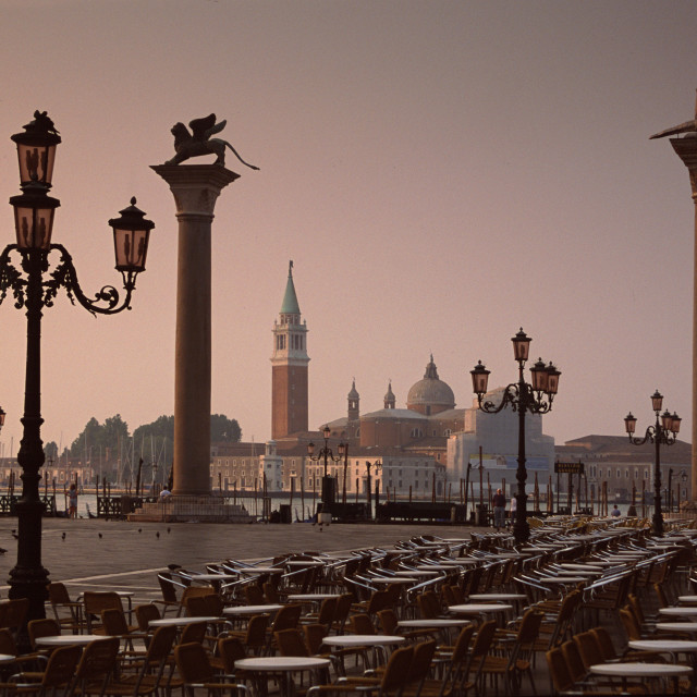 """View of San Marco from San Teodoro, Venice, Italy-65933"" stock image"