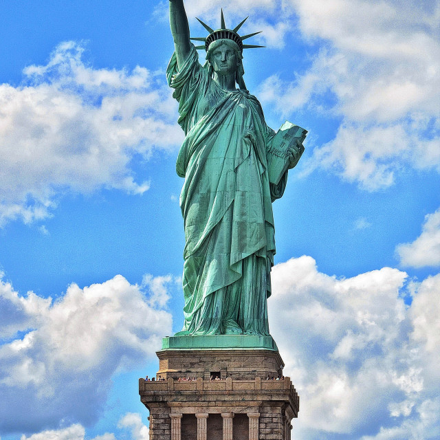 """Statue of Libery on Ellis Island"" stock image"