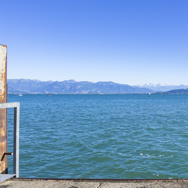 """""""View across Lake Constance"""" stock image"""