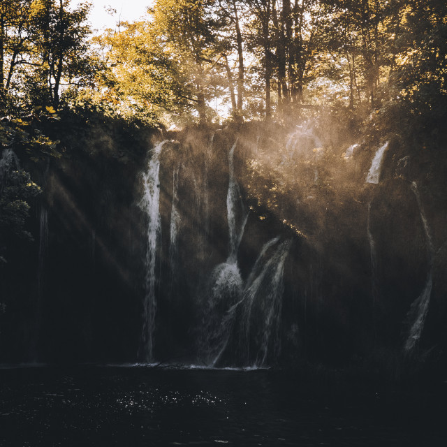 """Misty Waterfalls"" stock image"