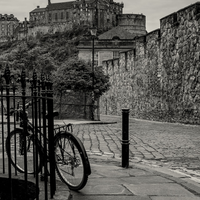 """Historic Edinburgh"" stock image"