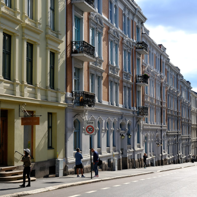 """""""City streets in Frogner, Oslo, Norway"""" stock image"""