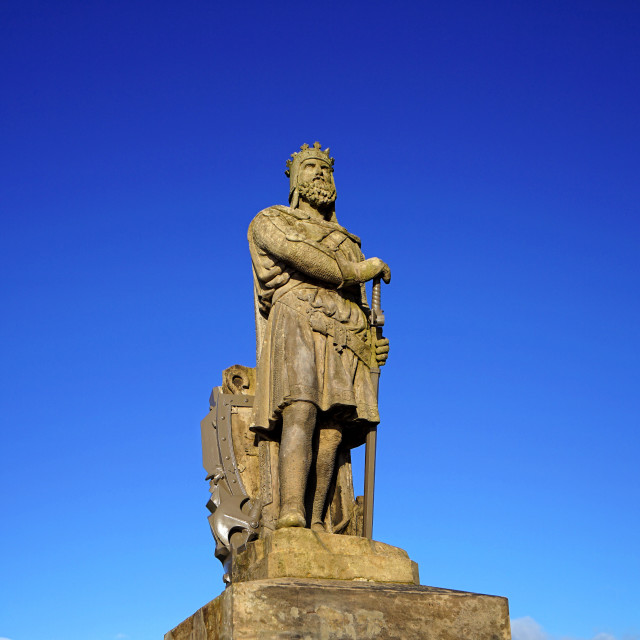 """Robert the Bruce, King of Scots"" stock image"