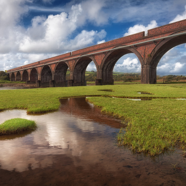 """The Eleven Arches viaduct"" stock image"