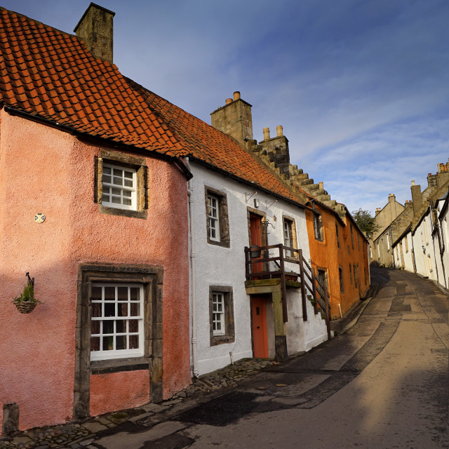 """Culross Village"" stock image"
