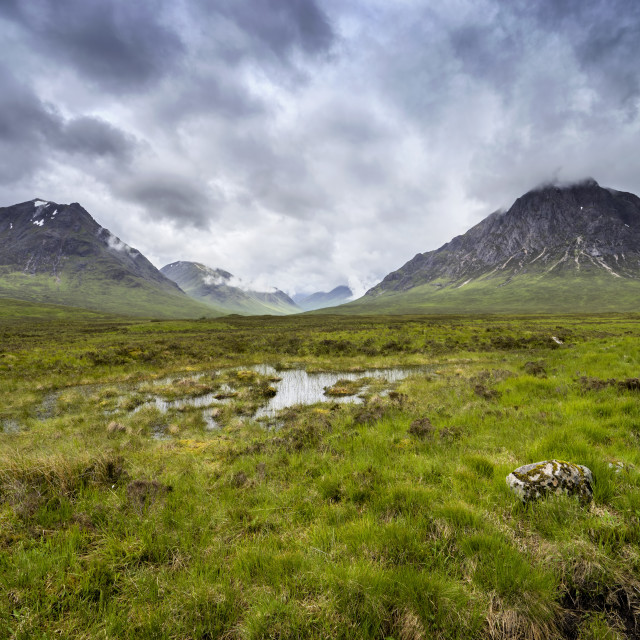 """Glencoe in Scotland"" stock image"