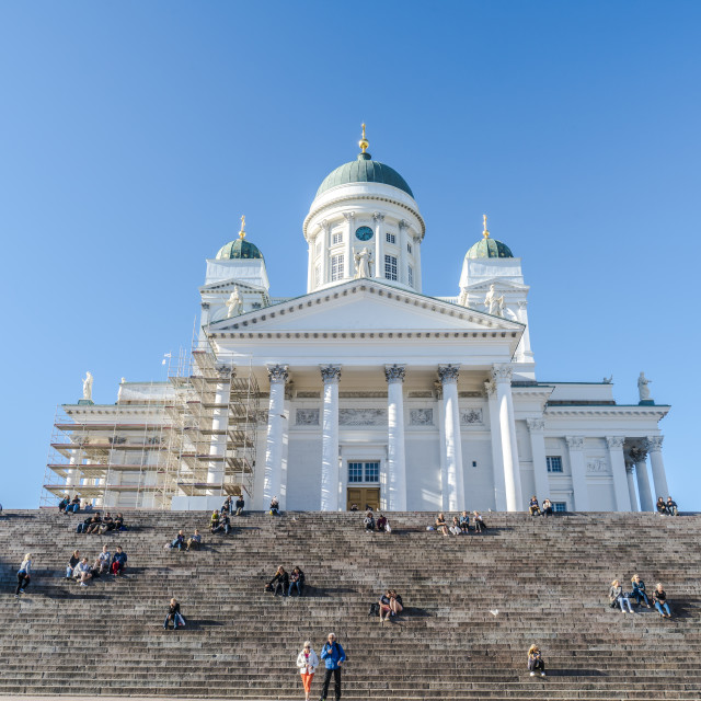 """Helsinki Cathedral wide shot"" stock image"