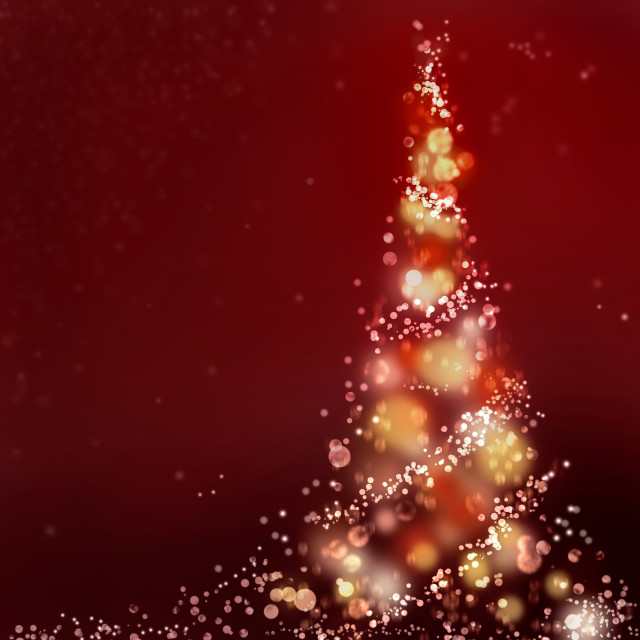 """christmas tree illustration"" stock image"
