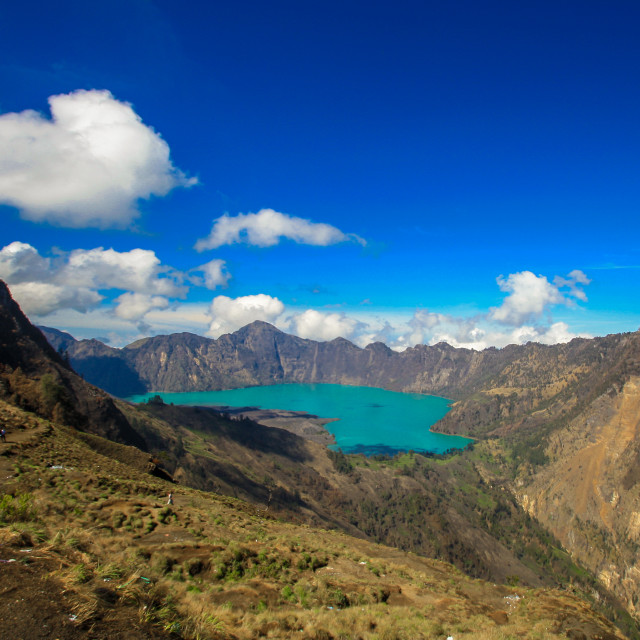 """Segara Anak Lake"" stock image"