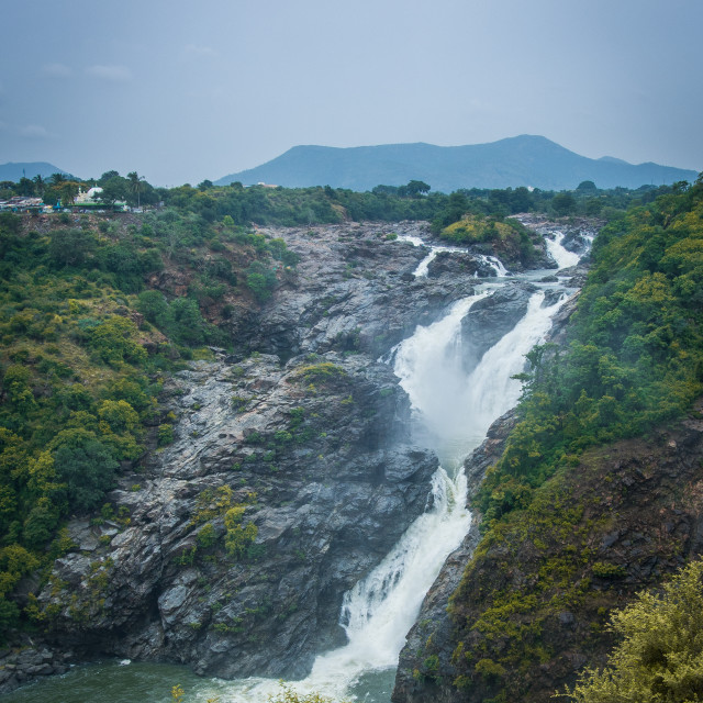 """Shivanasamudra Falls"" stock image"