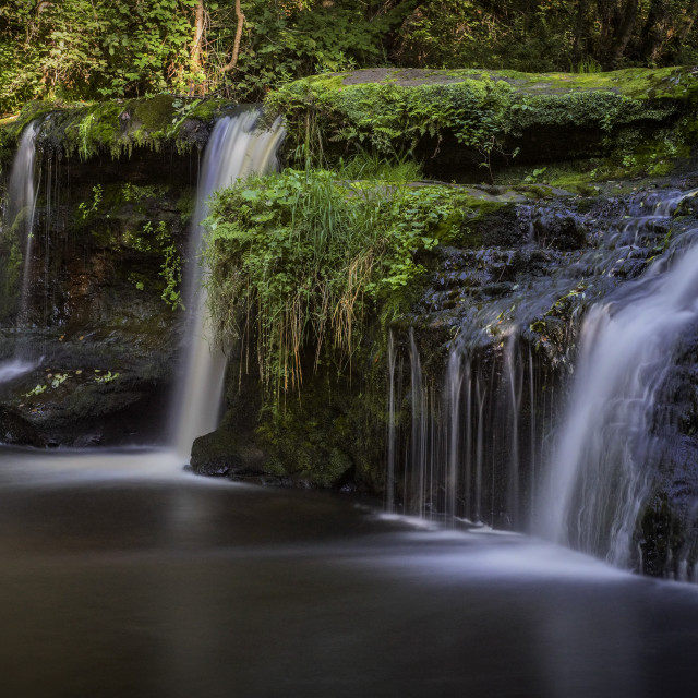 """Black Devon Waterfalls"" stock image"