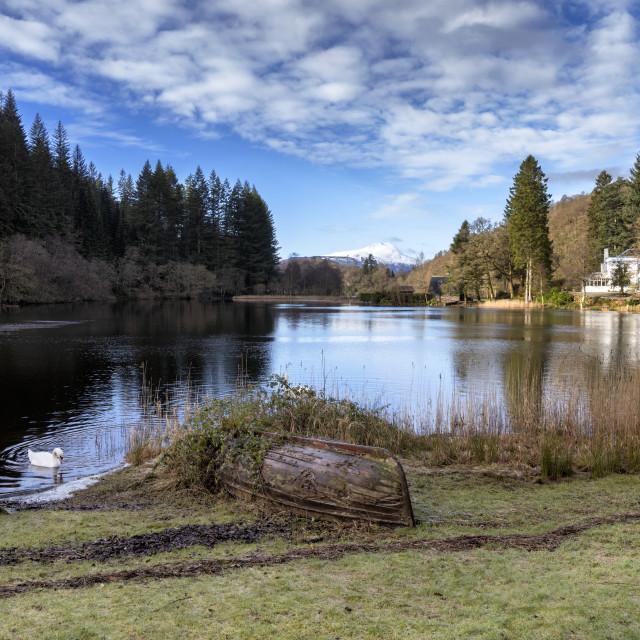 """Loch Ard in Aberfoyle"" stock image"