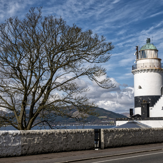 """Cloch Lighthouse at Gourock"" stock image"