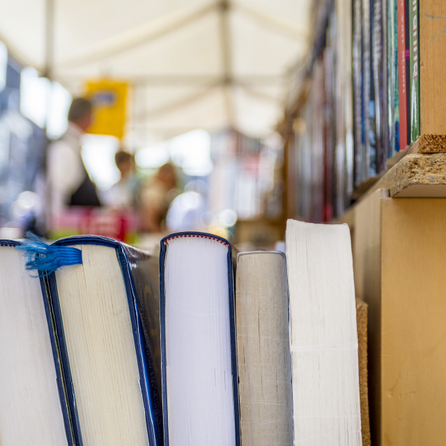 """""""Second hand books for sale"""" stock image"""