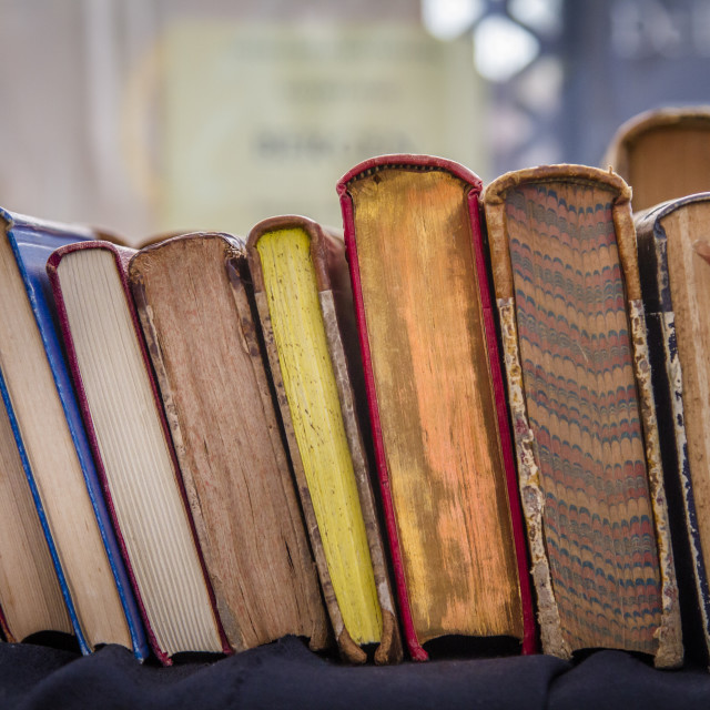 """""""Second hand hardcover books"""" stock image"""