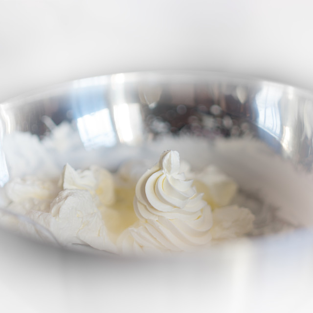 """""""Fresh cream in plate object background"""" stock image"""