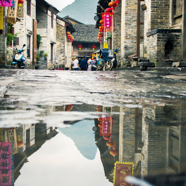 """Huang Yao Ancient Town in Guangxi province, China"" stock image"