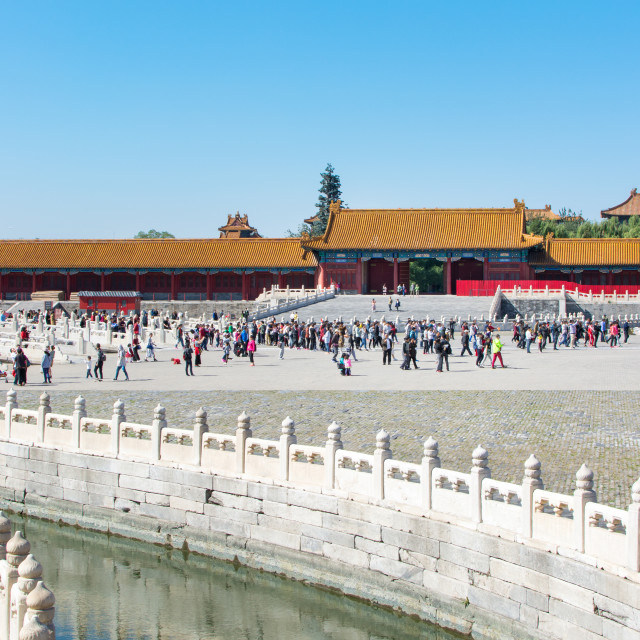 """BEIJING, CHINA - SEPTEMBER 29, 2016: Forbidden city imperial pa"" stock image"