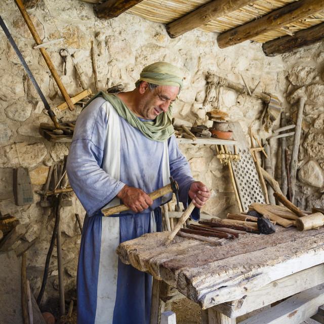 """Nazareth Village, recreating Nazareth in the time of Jesus, Nazareth, lower..."" stock image"
