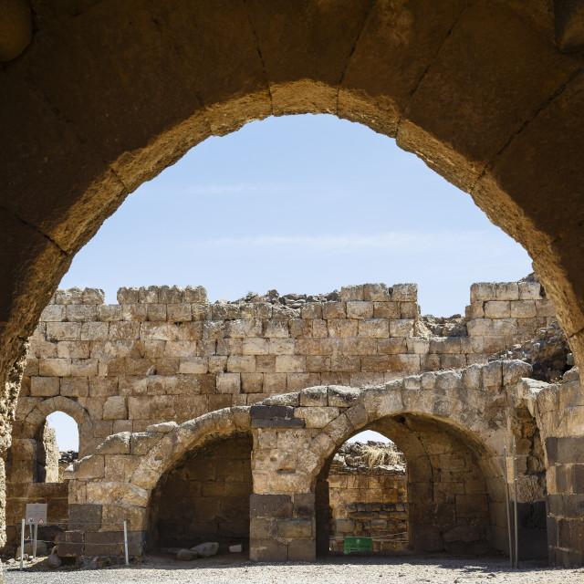 """Belvoir crusader fortress, lower Galilee region, Israel."" stock image"