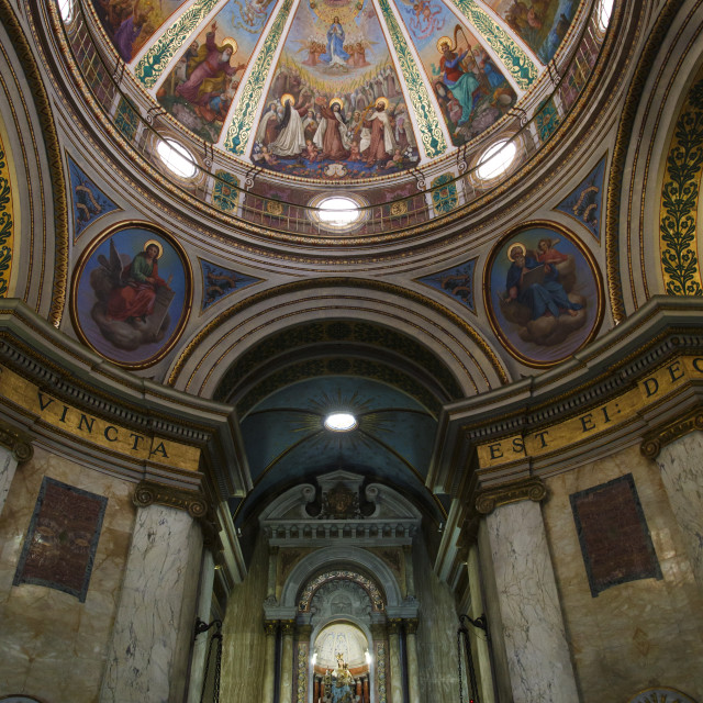 """The Church at the Carmelite Stella Maris Monastery on Mount Carmel, Haifa,..."" stock image"