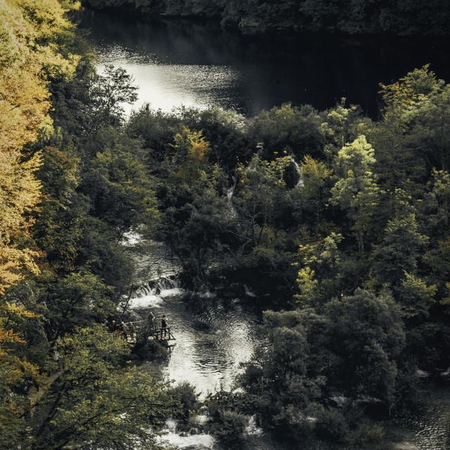 """Waterfalls in Plitvice, Croatia"" stock image"