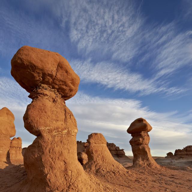 """""""Goblins (hoodoos), Goblin Valley State Park, Utah, United States of America,..."""" stock image"""