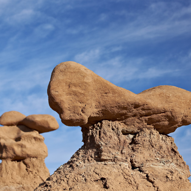"""Hoodoo or goblin, Goblin Valley State Park, Utah, United States of America,..."" stock image"