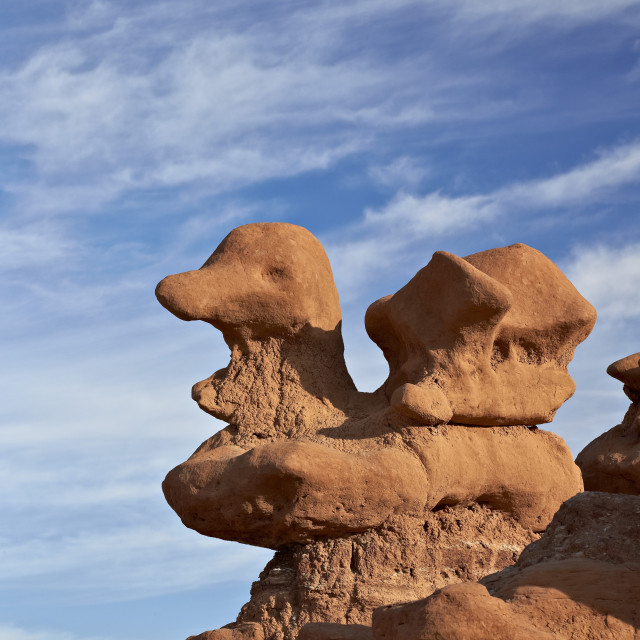 """Hoodoo shaped like a duck, Goblin Valley State Park, Utah, United States of..."" stock image"
