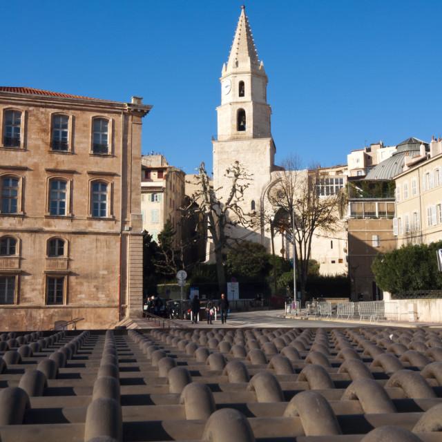 """""""Eglise des Accoules, Marseille, Bouches du Rhone, Provence-Alpes-Cote-d'Azur,..."""" stock image"""