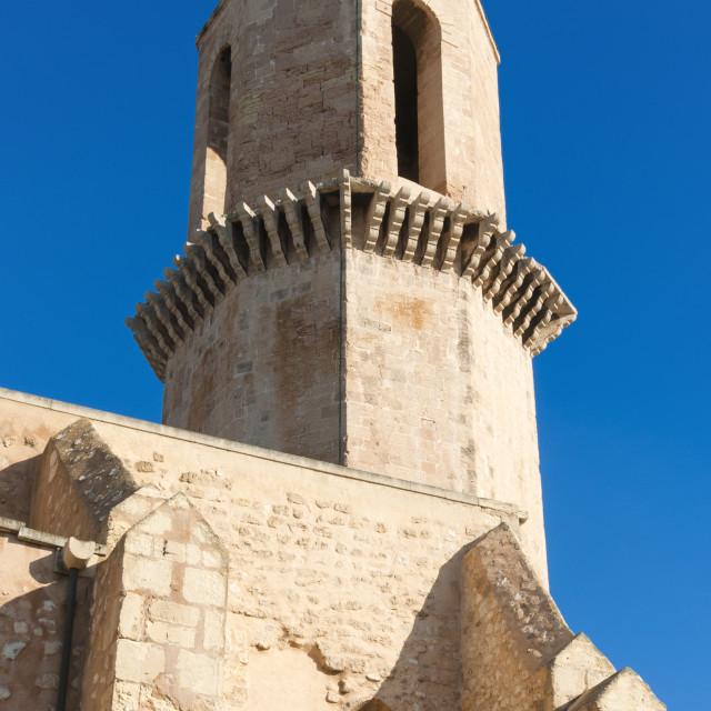 """Belltower of St. Laurent Church, Marseille, Bouches du Rhone,..."" stock image"