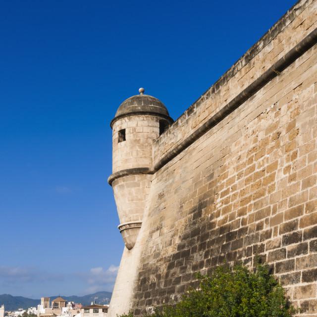 """City ramparts, Palma de Mallorca, Majorca, Balearic Islands, Spain, Europe"" stock image"