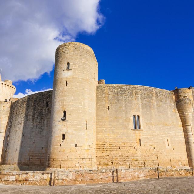 """""""Bellver Castle, dating from the 14th century, Palma de Mallorca, Majorca,..."""" stock image"""