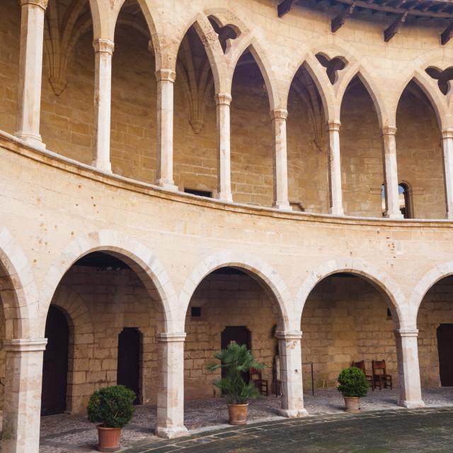 """""""Bellver Castle, 14th century, Palma de Mallorca, Majorca, Balearic Islands,..."""" stock image"""