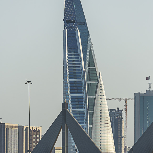 """Bahrain. Manama. Bahrain World Trade Center"" stock image"
