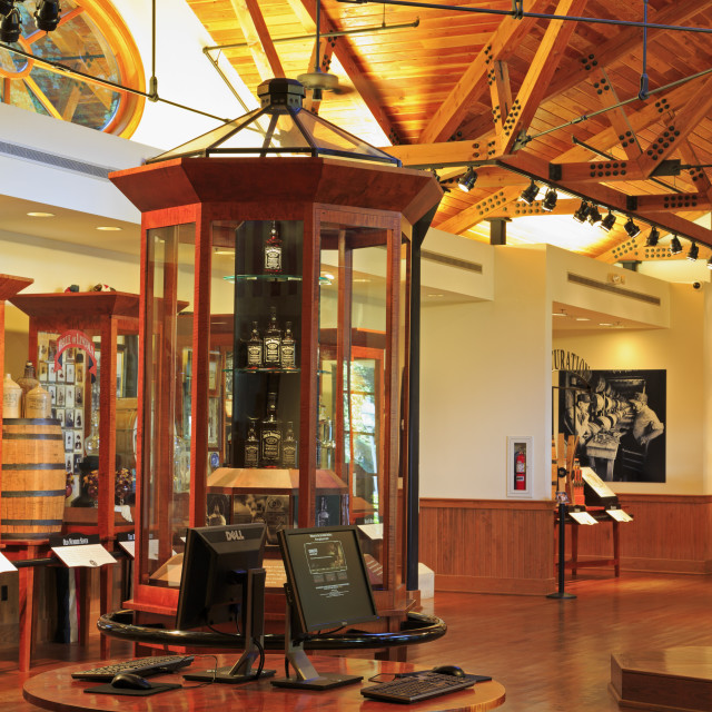 """Jack Daniel's Distillery, Lynchburg, Nashville, Tennessee, United States of..."" stock image"