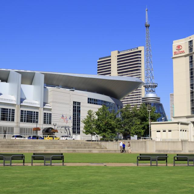"""Bridgestone Arena, Nashville, Tennessee, United States of America, North America"" stock image"