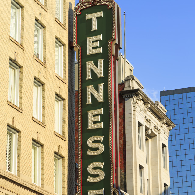 """Tennessee Theater on Gay Street, Knoxville, Tennessee, United States of..."" stock image"